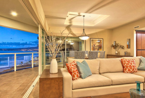 Ocean view from open living spaces